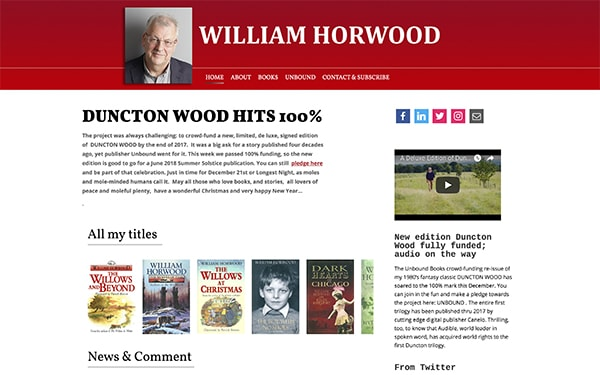 William Horwood - Website Design and Production